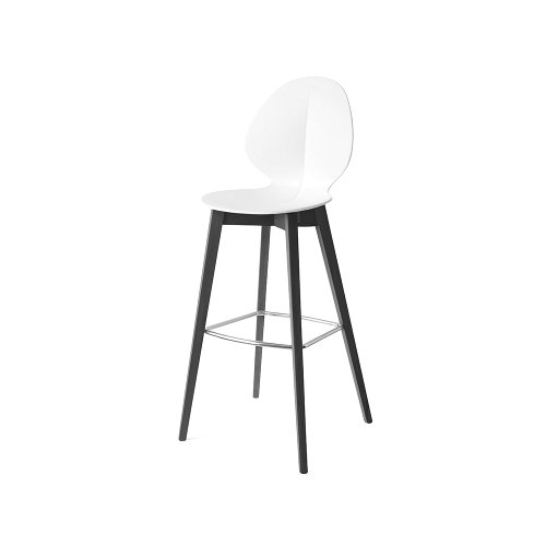 CS1496 BASIL W Frame P15L ash. MATT BLACK Seat P94 pp MATT OPTIC WHITE