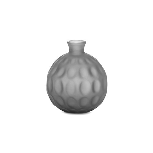 CS7238-B BOLLE Vase M6P glass ACID ETCHED TAUPE