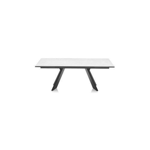 Icaro: Sculptured Wood-Base Extendable Table