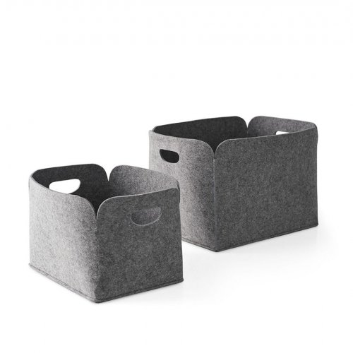 DARYL Storage box polyester felt GREY