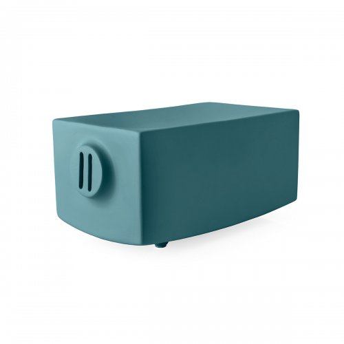 TEO DORO Storage box ceramic MATT PETROL BLUE