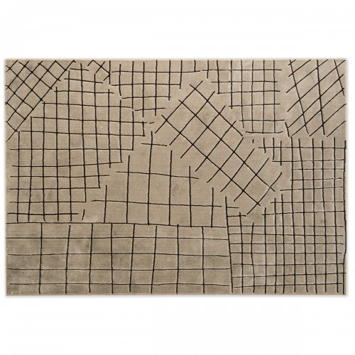 COLLAGE Rug Polypropylene/polyester BEIGE/BROWN