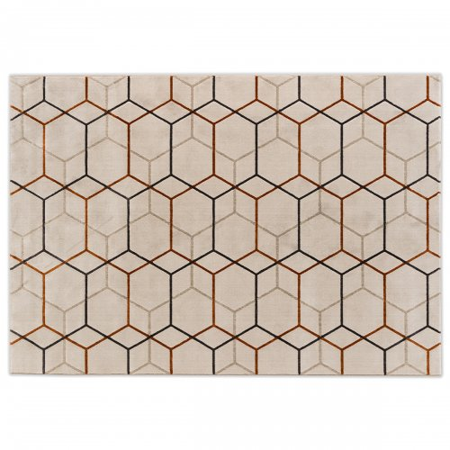OFFSET Rug Polypropylene/polyester BEIGE/BRICK RED/GREY/BROWN