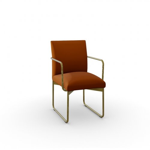 GALA Frame P175 met. POLISHED BRASS  Seat S0K Venice BRICK RED