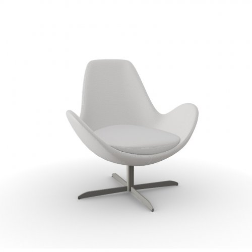 ELECTA Frame P66 met. SATIN FINISHED NICKEL  Seat SQ5 Malmo SAND