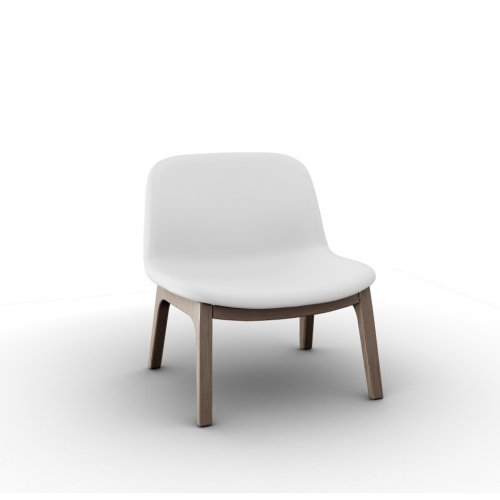 COLLEGE Frame P27 ash. NATURAL  Seat 705 soft leather OPTIC WHITE