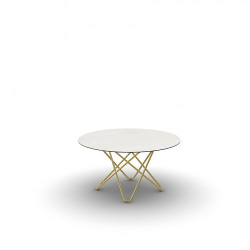 STELLAR Top P4C ceramic (g) GOLDEN ONYX MARBLE  Frame P175 met. POLISHED BRASS  Legs P175 met. POLISHED BRASS