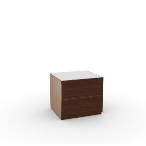 CITY Frame P201 wlnt ven. WALNUT  Drawers P201 wlnt ven. WALNUT  Top GEW temp.glass FROSTED EXTRACLEAR
