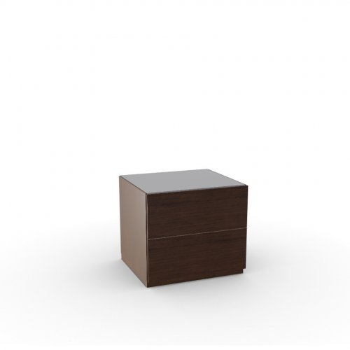 CITY Frame P12 ven.fin. SMOKE  Drawers P12 ven.fin. SMOKE  Top GTA temp.glass FROSTED TAUPE
