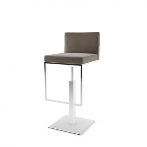 CS1394 EVEN PLUS Frame P77 met. CHROMED Seat D04 soft leather TAUPE
