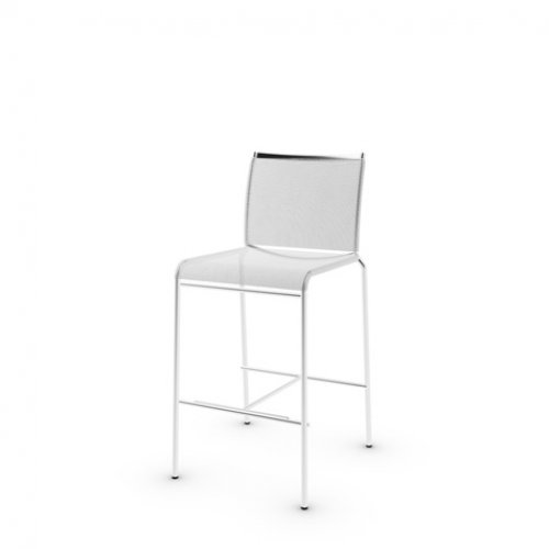 CS1458 WEB Frame P95 met. SATIN FINISHED STEEL Seat S70 Joy WHITE Back P95 met. SATIN FINISHED STEEL