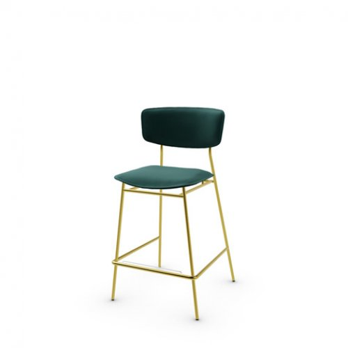 CS1864 FIFTIES Frame P175 met. POLISHED BRASS Seat S0H Venice FOREST GREEN