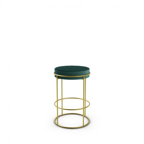 CS1876 ATOLLO Frame P175 met. POLISHED BRASS Seat S0H Venice FOREST GREEN
