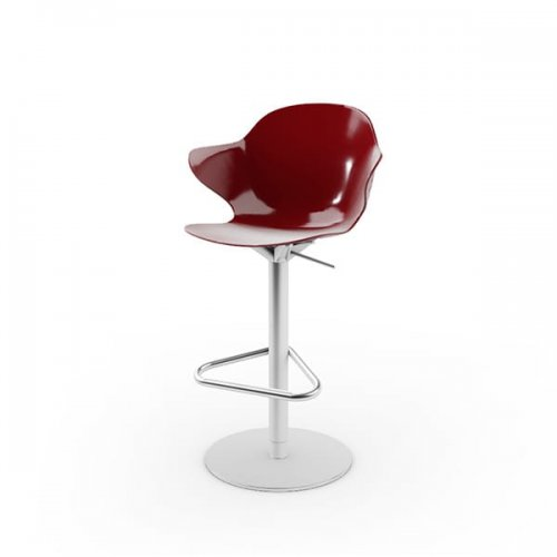 CS1878 SAINT TROPEZ Frame P95 met. SATIN FINISHED STEEL Seat P21P polycarbon GLOSSY OXIDE RED