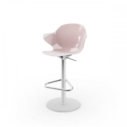 CS1878 SAINT TROPEZ Frame P95 met. SATIN FINISHED STEEL Seat P24P polycarbon GLOSSY PALE PINK