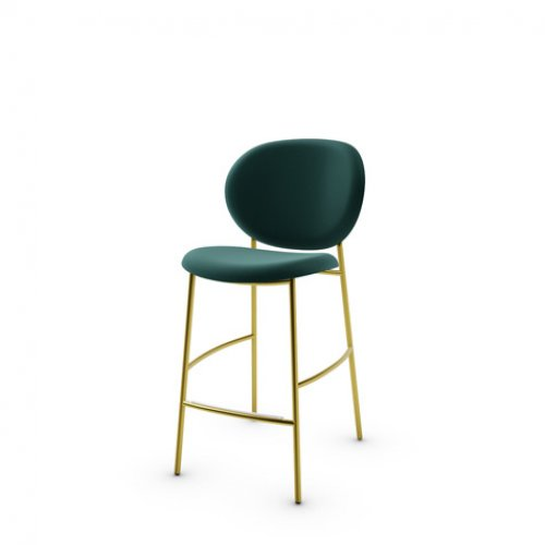 CS2022 INÈS Frame P175 met. POLISHED BRASS Seat S0H Venice FOREST GREEN