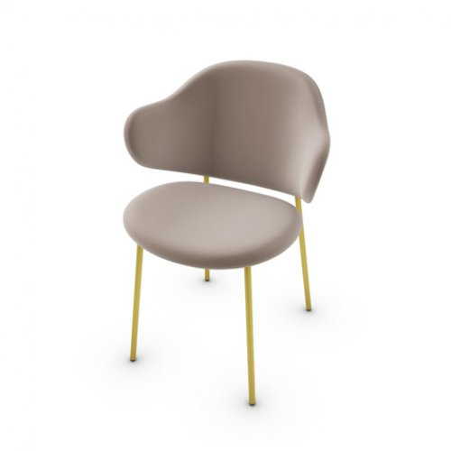 CS2037 HOLLY Frame P175 met. POLISHED BRASS Seat S0F Venice SAND