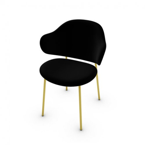CS2037 HOLLY Frame P175 met. POLISHED BRASS Seat S0Y Venice BLACK