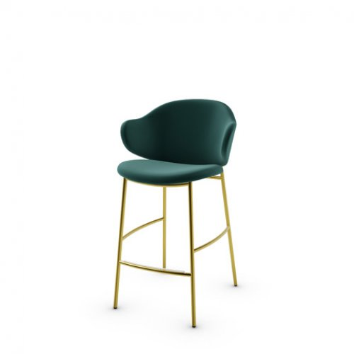 CS2038 HOLLY Frame P175 met. POLISHED BRASS Seat S0H Venice FOREST GREEN