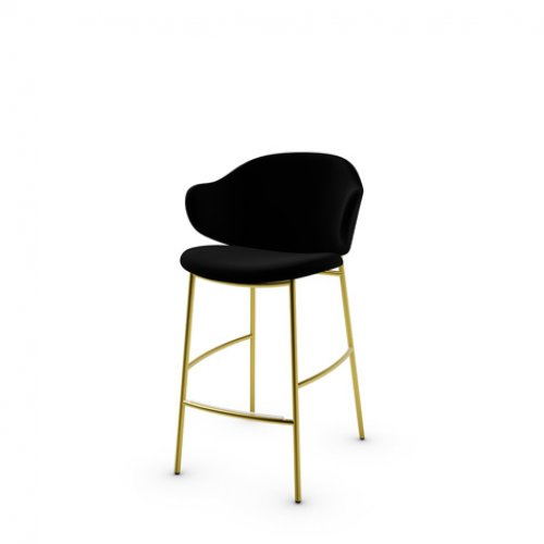 CS2038 HOLLY Frame P175 met. POLISHED BRASS Seat S0Y Venice BLACK