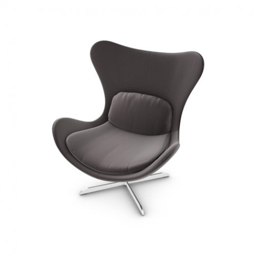 CS3373-C 1310 LAZY Frame P66 met. SATIN FINISHED NICKEL Seat SQ1 Malmo ANTHRACITE GREY