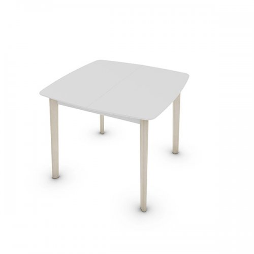 CS4063-Q 90 CREAM TABLE Legs P02 bch. BLEACHED BEECH Frame P94 lacq. MATT OPTIC WHITE Top P94 lacq. MATT OPTIC WHITE
