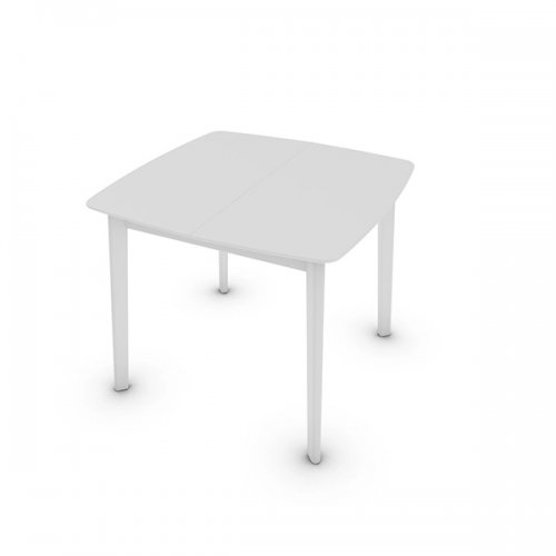 CS4063-Q 90 CREAM TABLE Legs P94 bch. MATT OPTIC WHITE Frame P94 lacq. MATT OPTIC WHITE Top P94 lacq. MATT OPTIC WHITE