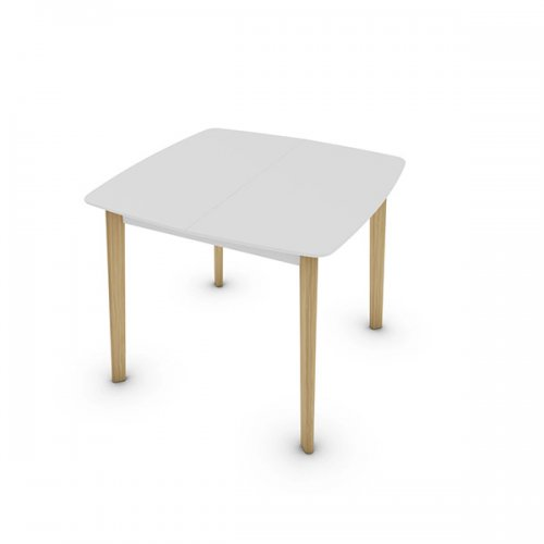 CS4063-Q 90 CREAM TABLE Legs P19W ash. NATURAL OAK Frame P94 lacq. MATT OPTIC WHITE Top P94 lacq. MATT OPTIC WHITE