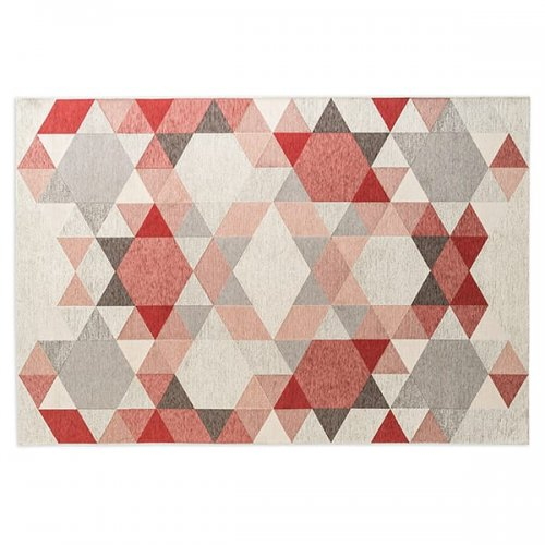 CS7187-A ESAGONO Rug M4C chenille/cotton VARIOUS SHADES OF GREY/ VARIOUS SHADES OF PINK