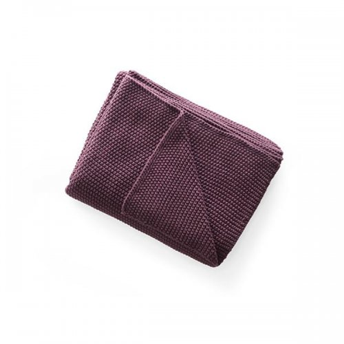 CS7202 CANTWELL Throw M4E cotton BURGUNDY RED