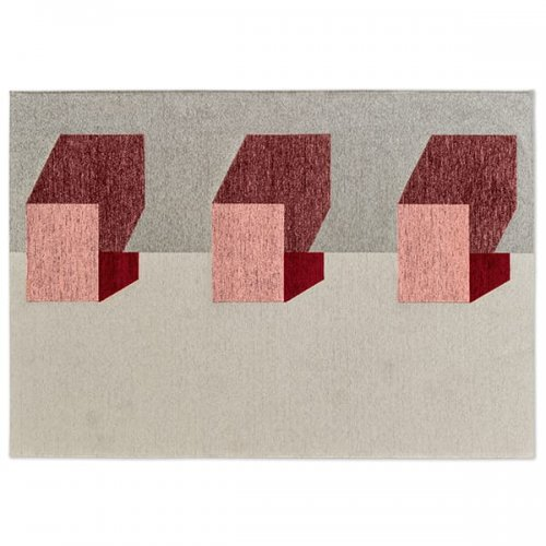 CS7211-A JUT Rug M5M chenille/cotton GREY/VARIOUS SHADES OF PINK