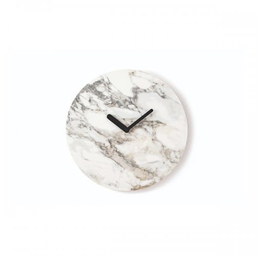 CS7228 MOON Clock P2C ceramic WHITE MARBLE