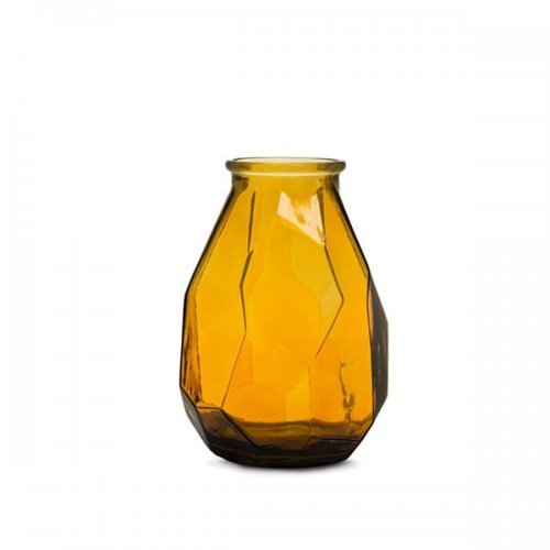CS7237-A FACE Vase M6E glass TRANSPARENT AMBER