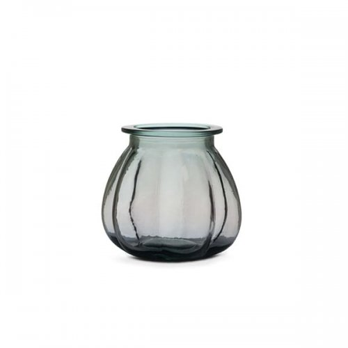 CS7243-A PUMPKIN Vase M6C glass TRANSPARENT SMOKE GREY