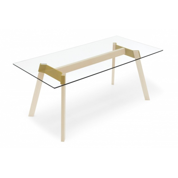 Paper (160): Glass Dining Table - 6 Seats