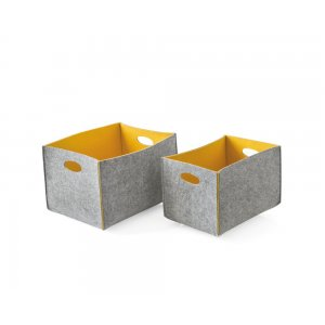 Dorian: Set of 2 Felt Storage Baskets