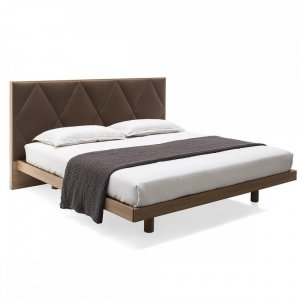 Erie: Partially-Upholstered-Headboard Platform Bed
