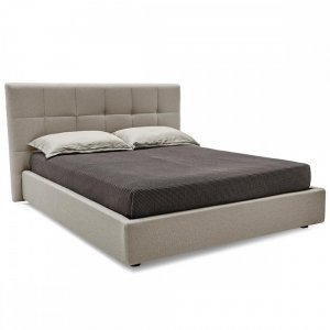 Swami: Contemporary Fully-Upholstered Storage Bed